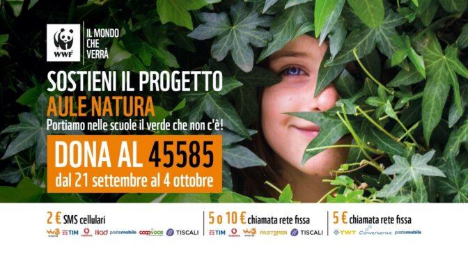 SCUOLA: DAL WWF UNA RACCOLTA FONDI STRAORDINARIA PER COSTRUIRE 'AULE NATURA'